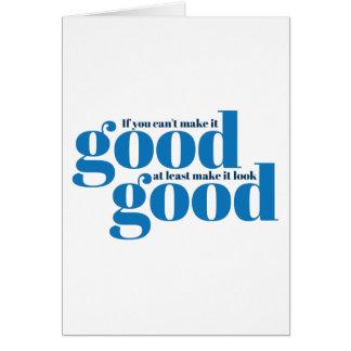 Hágalo bueno Inspirado y de motivación Felicitación