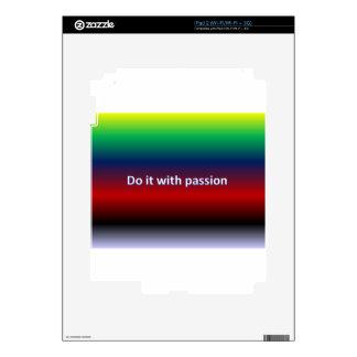 Hágalo con la pasión iPad 2 skins