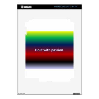 Hágalo con la pasión iPad 3 pegatinas skins