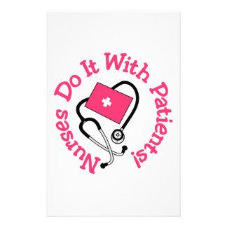¡Hágalo con los pacientes! Papeleria De Diseño