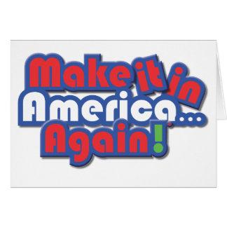 ¡Hágalo en América! Felicitación