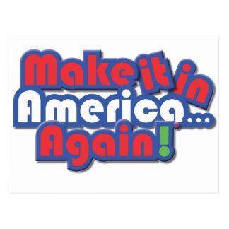 ¡Hágalo en América! Postal