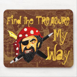Hágalo mi ratón-cojín del jefe del pirata de la ma alfombrillas de raton