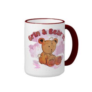hágalo muecas y lleve taza de café