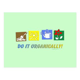 Hágalo orgánico tarjetas postales