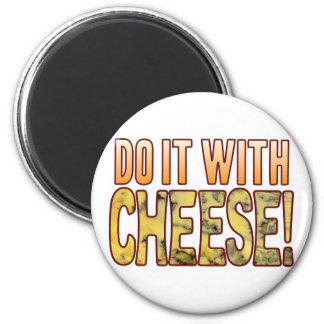 Hágalo queso verde imán redondo 5 cm