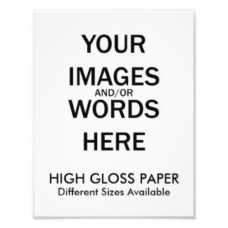 Hágalo usted mismo - ALTA impresión del LUSTRE Fotografía