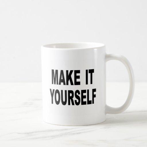 Hágalo usted mismo de encargo taza