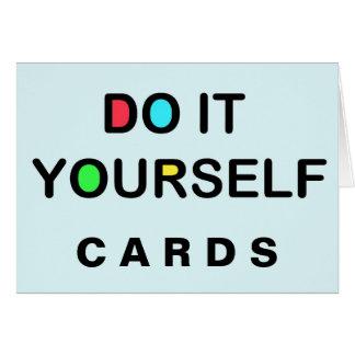 HÁGALO USTED MISMO las tarjetas del saludo/de nota