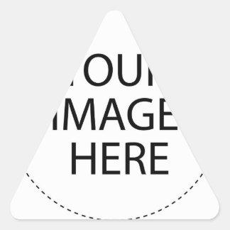 Hágalo usted mismo pegatina triangular