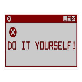 ¡Hágalo usted mismo! Postal