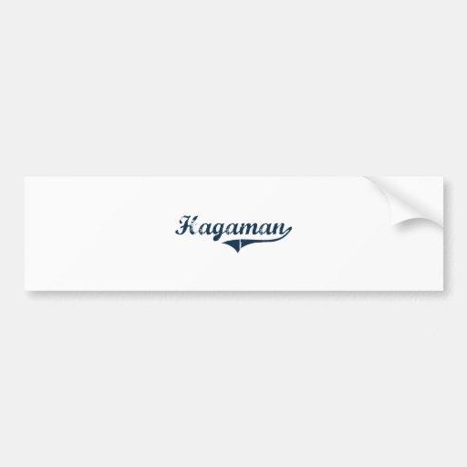 Hagaman New York Classic Design Car Bumper Sticker