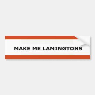 Hágame a Lamingtons Etiqueta De Parachoque