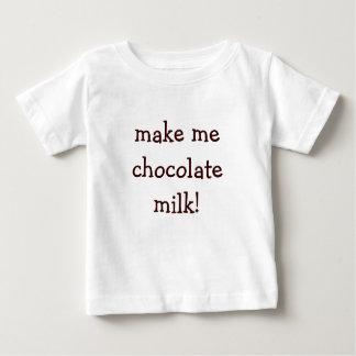 ¡hágame el chocolate caliente! playera de bebé