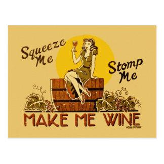 Hágame la postal del vino