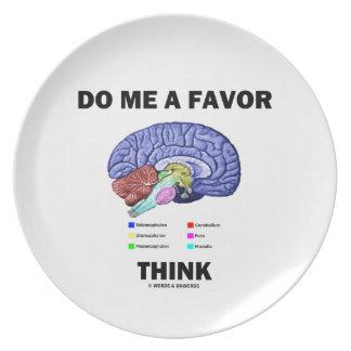 Hágame que un favor piensa (el humor de la anatomí platos