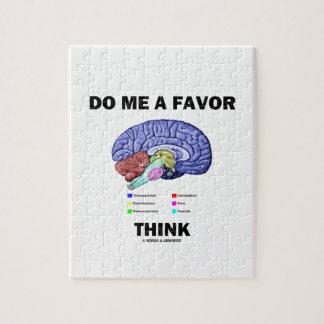 Hágame que un favor piensa (el humor de la anatomí rompecabeza