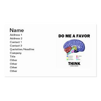 Hágame que un favor piensa (el humor de la tarjetas de visita