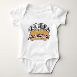 Hágame un bocadillo body para bebé