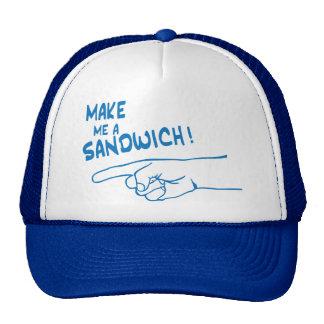 Hágame un bocadillo gorras de camionero