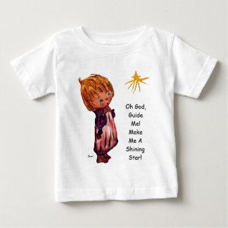 Hágame una estrella brillante de serie del niño de playera de bebé