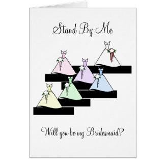 Hágame una pausa las damas de honor en las tarjeta de felicitación