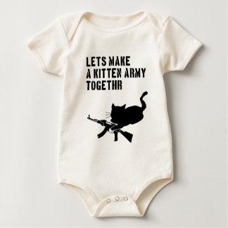 Hagamos a un ejército Togethr del gatito Body Para Bebé