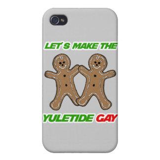 HAGAMOS AL GAY DE YULETIDE - .PNG iPhone 4 FUNDAS