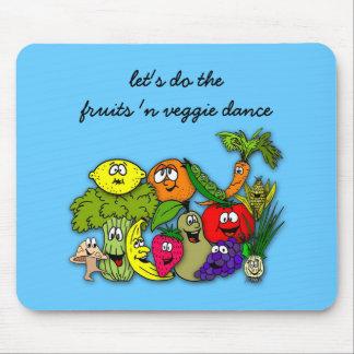hagamos danza del veggie de n de las frutas ' alfombrillas de ratón