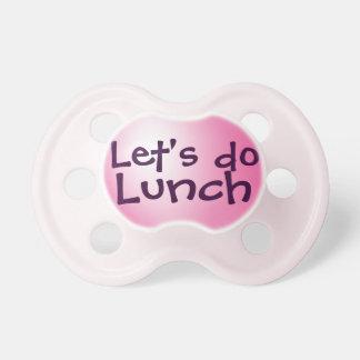 Hagamos el almuerzo chupetes para bebes