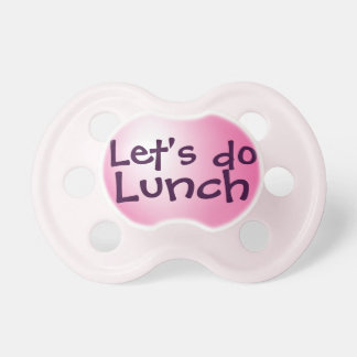 Hagamos el almuerzo chupetes para bebés