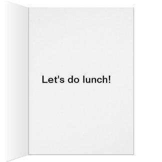 ¡Hagamos el almuerzo! El lagarto divertido hace Tarjeta De Felicitación