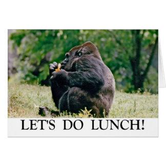¡Hagamos el almuerzo! Tarjeta De Felicitación