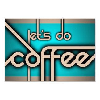 ¡hagamos el café! invitación 8,9 x 12,7 cm
