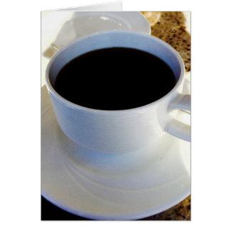 Hagamos el café tarjeta de felicitación