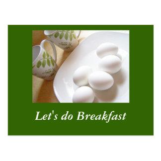 Hagamos el desayuno tarjeta postal