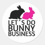 Hagamos el negocio del conejito etiquetas redondas