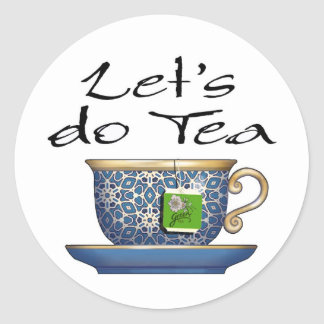 Hagamos el té - 003 pegatina redonda