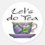 Hagamos el té - 004 pegatina redonda