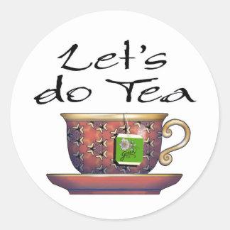 Hagamos el té - 006 pegatina redonda
