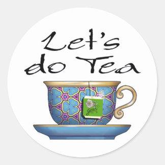 Hagamos el té - 007 pegatina redonda