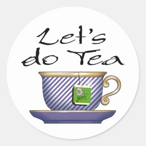 Hagamos el té - 008 pegatinas redondas