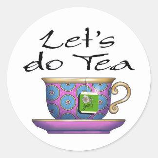 Hagamos el té - 011 pegatina redonda