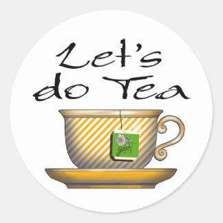 Hagamos el té - 012 pegatina redonda