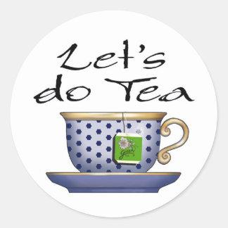Hagamos el té - 01 pegatina redonda