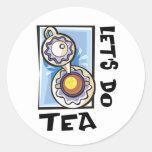 Hagamos el té pegatina redonda