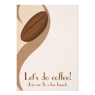 Hagamos la invitación del alumerzo del café