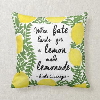 Hagamos la limonada cojines