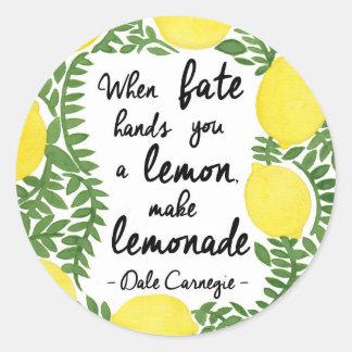 Hagamos la limonada etiqueta redonda