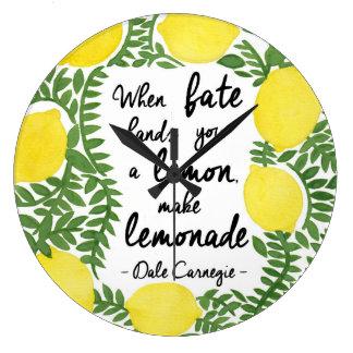 Hagamos la limonada relojes de pared